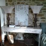 tavolo e orologio shabby