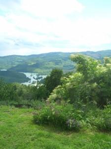 Vista sul lago dell'agriturismo Caresto